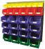 RS PRO Blue, Green, Red, Yellow Steel Louvre Panel Storage Unit, 946mm x 914mm