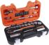 Bahco S-330, 34 Pieces Socket Set 1/4 in, 3/8 in Square Drive