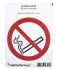 PVC No Smoking Prohibition Sign, None