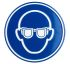 Wolk Aluminium Mandatory Eye Protection Sign With Pictogram Only Text