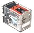 Omron 4PDT Non-Latching Relay Plug In, 24V dc Coil, 3 A