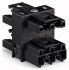 Wago, 770 Male to Female 3 Pole 4 Way Distribution Block, Rated At 25A, 250 V