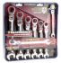 Gear Wrench 7 Piece Chrome Vanadium Steel Ratchet Spanner Set
