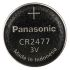 Panasonic Lithium Button Battery, CR2477, 3V, 24.5mm Diameter
