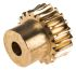 RS PRO Bronze 20 Teeth Worm Wheel Gear, 20mm PitchDiam. , 16mm Hub Diam. , 14.5mm Face Width