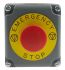 Schneider Electric Harmony, Red/Grey, Twist to Reset 30mm Mushroom Head Emergency Button