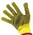 BM Polyco Touchstone Kevlar PVC-Coated Gloves, Size 9, Yellow, Cut Resistant