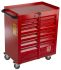 RS PRO 6 drawer Steel WheeledTool Chest, 750mm x 560mm x 350mm