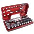 Facom SXL.DBOX1PB, 21 Pieces Extendable Ratchet Socket Set 1/2 in Square Drive