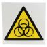 RS PRO Biological Hazard Sign, Black/Yellow/White Plastic