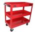 RS PRO 3 Level Steel Trolley Workshop Tool Trolley, 890 x 420 x 800mm, 50 (Per Level)kg Load