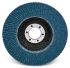 3M Zirconia Aluminium Medium Flap Disc, P80 Grit, 12000rpm, 125mm x 22mm Bore