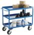 RS PRO 3 Level Steel Tray Trolley, 500 x 900mm, 350kg Load