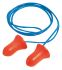 Howard Leight Corded Disposable Ear Plugs, 37dB, Blue, Orange, 100 Pairs per Package