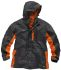 Scruffs Worker Grey/Orange Men's XXL Waterproof Polyester Jacket