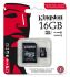 Kingston 16 GB, Class 10, UHS-1 U1, MicroSDHC