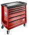 Facom 6 drawer WheeledTool Chest, 971mm x 518mm x 968mm