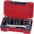 Teng Tools Bits set 29 Pieces, Hexagon, Phillips, Slotted, Torx