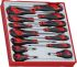 Teng Tools Slotted Head Slotted Screwdriver Set 14 Piece