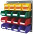 RS PRO PP Louvre Panel Storage Unit Louvred Panel, 438mm x 457mm, Blue, Green, Red, Yellow