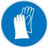Brady PET Mandatory Protective Gloves Sign With Pictogram Only Text