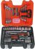 Bahco S-910, 91 Pieces Socket Set 1/2 in, 1/4 in Square Drive
