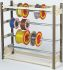 RS PRO Cable Rack 985mm (H) x 990 mm (W) diameter 31.75mm 4 shelves in Steel