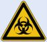 Wolk 21.0232 1 x Biological Hazard Label, Black/Yellow Self-Adhesive PVC