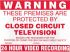 Sure24 Red PVC CCTV Sign, Warning Closed Circuit Television, English, CCTV, 400 mm x 600mm