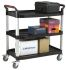 RS PRO 3 Level Thermoplastic Shelf Trolley, 866 x 500mm, 200kg Load