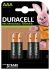 Duracell Recharge Plus NiMH Rechargeable AAA Battery, 750mAh, 1.2V