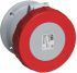 ABB Tough & Safe Series, IP67 Red Panel Mount 3P+N+E Industrial Power Socket, Rated At 63A, 415 V
