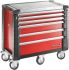 Facom 6 drawer Steel WheeledTool Chest, 1154mm x 1000mm x 546mm