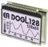 Electronic Assembly EA DOGL128W-6 Graphic LCD Display, White on Black, Transflective