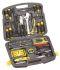 Stanley Tools 工具套装, 53件 电工工具套件, 内含 DMM;8 个螺丝刀;实用刀;钳;剥线钳;扳手;焊接烙铁;镊子;Stanley 带;1/4 in 驱动 6 点套筒