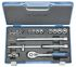 Gedore D 30 GMU-10, 17 Pieces Socket Set 3/8 in Square Drive