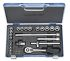Gedore 30 HMU-10, 22 Pieces Socket Set 3/8 in Square Drive