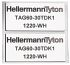 Marcador de panel HellermannTyton 596-00576 TAG27-12.5TDK1-1221-SR-1221-ML (1000)