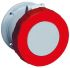 ABB, Tough & Safe IP67 Red Panel Mount 3P+E Industrial Power Socket, Rated At 63.0A, 415.0 V