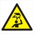 RS PRO 1 x Overhead Obstacle Sign, Black/Yellow/White Plastic