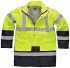 Dickies Navy/Yellow Hi Vis Jacket, Men's, L, Waterproof