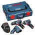Bosch Cordless Power Tool Kit, 10.8V, Li-ion batteries, UK Plug