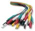 7A Black, Green, Red, White, Yellow Test lead, 300V Rating - 0.3m Length