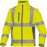 Delta Plus Fluorescent Yellow Unisex Hi Vis Jacket, L