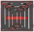 Teng Tools 7 pieces Hex Key,  L Shape 2.5 mm, 3 mm, 4 mm, 5 mm, 6 mm, 7 mm, 8 mm