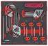 Teng Tools 42 pieces Hex Key,  L Shape 1.5 mm, 1/4 mm, 1/8 mm, 2.5 mm, 2 mm, 3/8 mm, 3/16 mm, 3/32 mm, 3 mm, 4 mm, 5/16