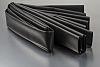 RS PRO Heat Shrink Tubing, Black 38.1mm Sleeve Dia. x 1.2m Length 2:1 Ratio