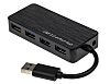 RS PRO 4x USB A Port Hub, USB 3.0 - USB Bus Powered