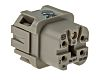 HARTING Han A Heavy Duty Power Connector Insert, 4 contacts, 10A, Female