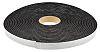 RS PRO Black Foam Tape, 25mm x 15m, 6mm Thick